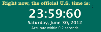 Leap Second June 2012