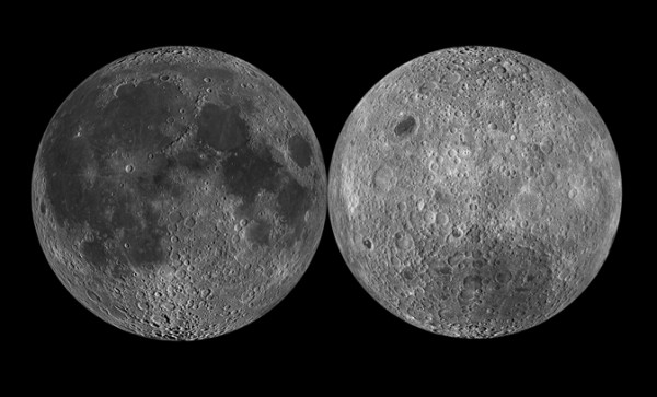 Near and far sides of the Moon