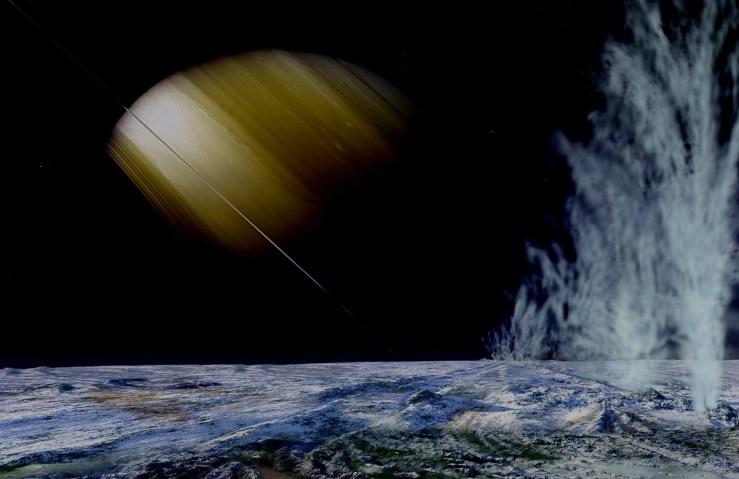 Enceladus Ice Volcano