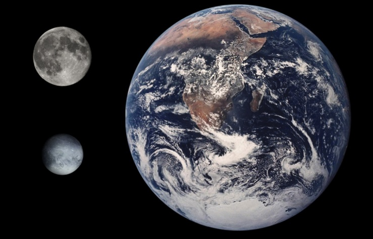 Pluto Earth Moon Comparison
