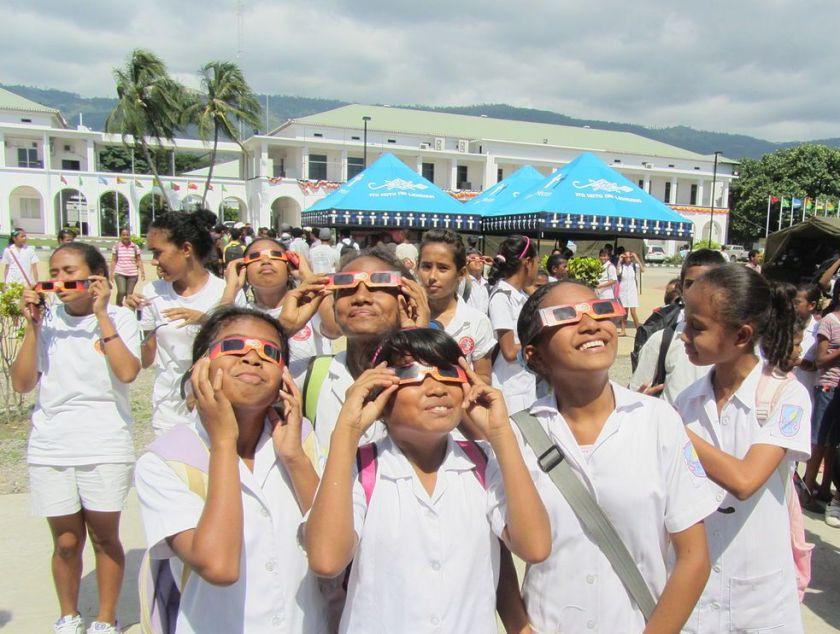 Children Observing Transit in East Timor