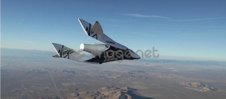 space ship two landing